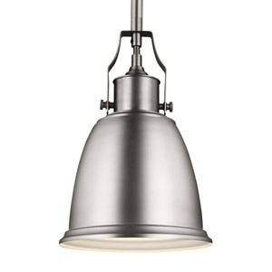 Hobson Satin Nickel One-Light 8-Inch Wide Mini Pendant
