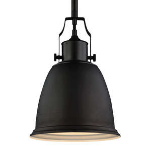 Hobson Oil Rubbed Bronze One-Light 10-Inch Wide Mini Pendant