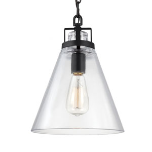 Frontage Oil Rubbed Bronze One-Light Pendant with Clear Glass