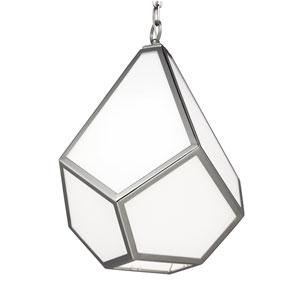 Diamond Polished Nickel One-Light Pendant