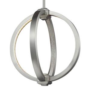 Khloe Satin Nickel Two-Light LED Pendant