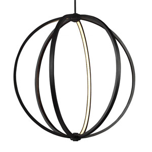 Khloe Oil Rubbed Bronze Three-Light 30-Inch Wide LED Pendant