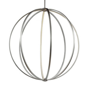Khloe Satin Nickel One-Light LED Pendant