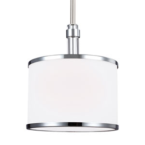 Prospect Park Satin Nickel and Chrome One-Light Pendant