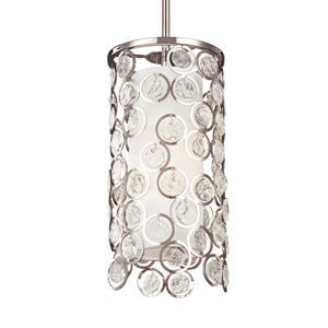Lexi Polished Nickel One-Light Mini-Pendant