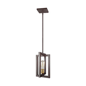 Finnegan New World Bronze One-Light Mini-Pendant
