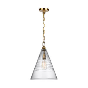 Elmore Burnished Brass 12-Inch One-Light Pendant