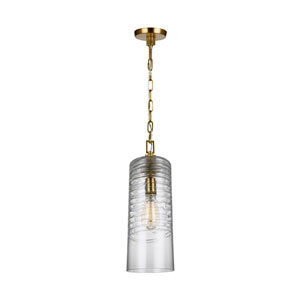 Elmore Burnished Brass 6-Inch One-Light Mini-Pendant