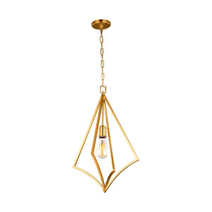 Nico Burnished Brass 14-Inch One-Light Pendant