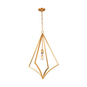 Nico Burnished Brass 19-Inch One-Light Pendant