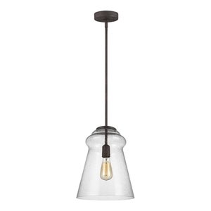 Loras Dark Weathered Iron 12-Inch One-Light Pendant