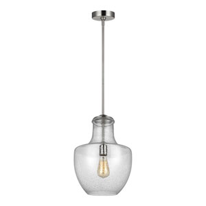 Baylor Satin Nickel 12-Inch One-Light Pendant