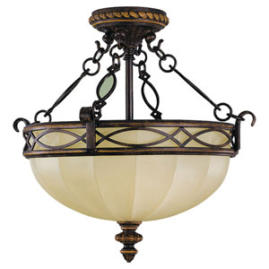 Edwardian Semi-Flush Ceiling Light