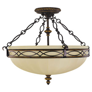 Edwardian Large Semi-Flush Ceiling Light
