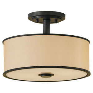 Casual Luxury Dark Bronze Semi-Flush