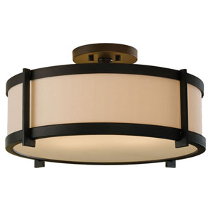 Stelle Oil Rubbed Bronze Two-Light Semi-Flush