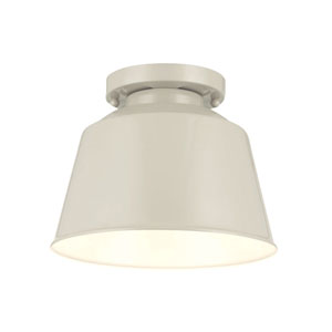 Freemont Hi Gloss Grey One-Light Semi Flush Mount
