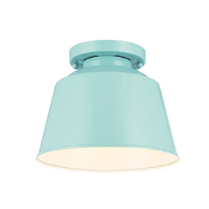 Freemont Hi Gloss Blue One-Light Semi Flush Mount