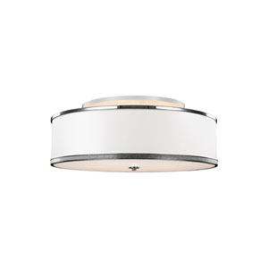 Pave Polished Nickel Five-Light Ceiling Fixture