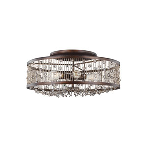Colorado Springs Chestnut Bronze Six-Light Ceiling Fixture