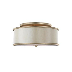 Lennon Sunset Gold Three-Light Semi-Flush Mount