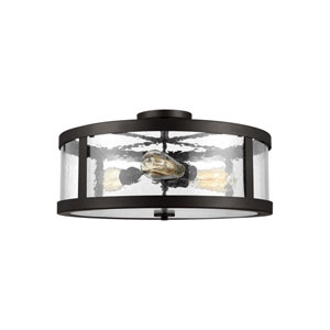 Harrow Oil Rubbed Bronze 20-Inch Three-Light Semi-Flush Mount