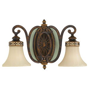 Edwardian Two-Light Bath Fixture