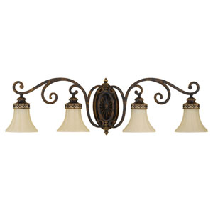 Cervantes Walnut Four-Light  Bath Fixture