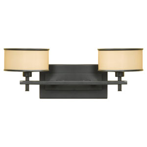 Casual Luxury Dark Bronze Two-Light Vanity Fixture