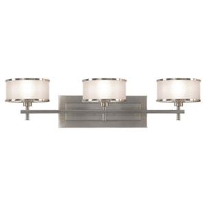 Casual Luxury Brushed Steel Three-Light Bath Light