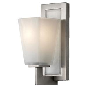 Clayton Brushed Steel One-Light Bath Light Strip