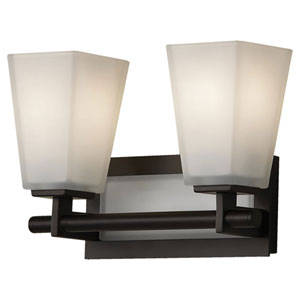 Clayton Oil Rubbed Bronze Two-Light Bath Light Strip