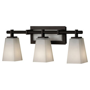 Clayton Oil Rubbed Bronze Three-Light Bath Light Strip