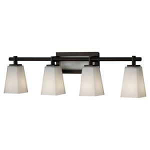 Clayton Oil Rubbed Bronze Four-Light Bath Light Strip