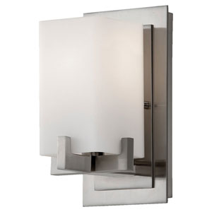 Riva Brushed Steel One-Light Bath Fixture