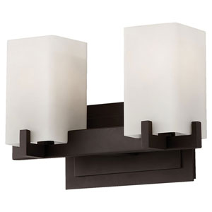 Riva Oil Rubbed Bronze Two-Light Bath Fixture