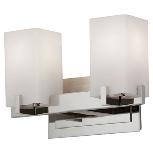Riva Polished Nickel Two-Light Bath Fixture