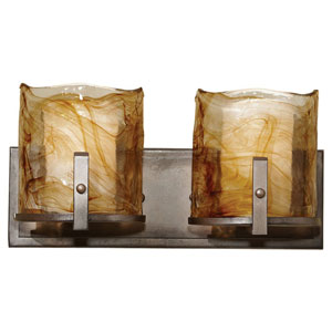 Aris Roman Bronze Two-Light Bath Fixture