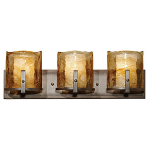 Aris Roman Bronze Three-Light Bath Fixture
