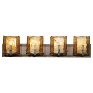 Aris Roman Bronze Four-Light Bath Fixture
