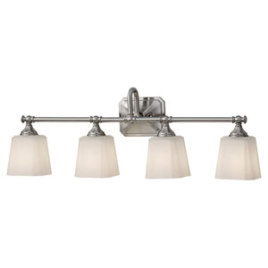 Concord Brushed Steel Four-Light Vanity Light