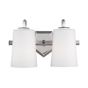 Pentagram Satin Nickel Two-Light Bath Fixture
