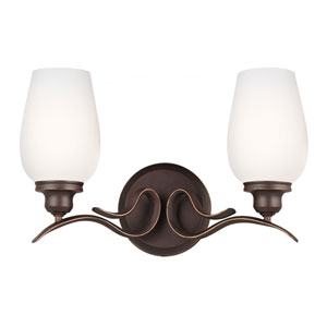Standish Oil Rubbed Bronze with Highlights Two-Light Bath Fixture