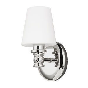Xavierre Polished Nickel One-Light Bath Fixture