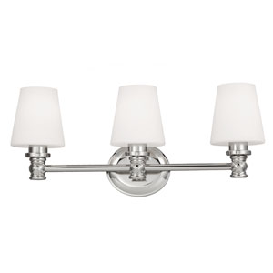 Xavierre Polished Nickel Three-Light Bath Fixture