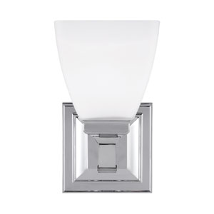 Putnam Chrome One-Light Bath Fixture