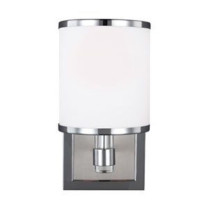 Prospect Park Satin Nickel and Chrome One-Light Bath Fixture