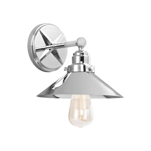 Hooper Chrome One-Light Wall Bath Fixture