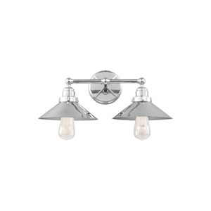 Hooper Chrome Two-Light Wall Bath Fixture