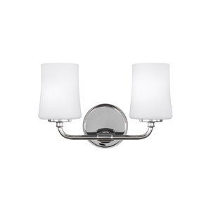 Jennie Chrome Two-Light Wall Bath Fixture